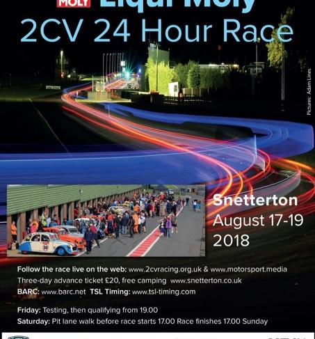 2018 24hr race poster